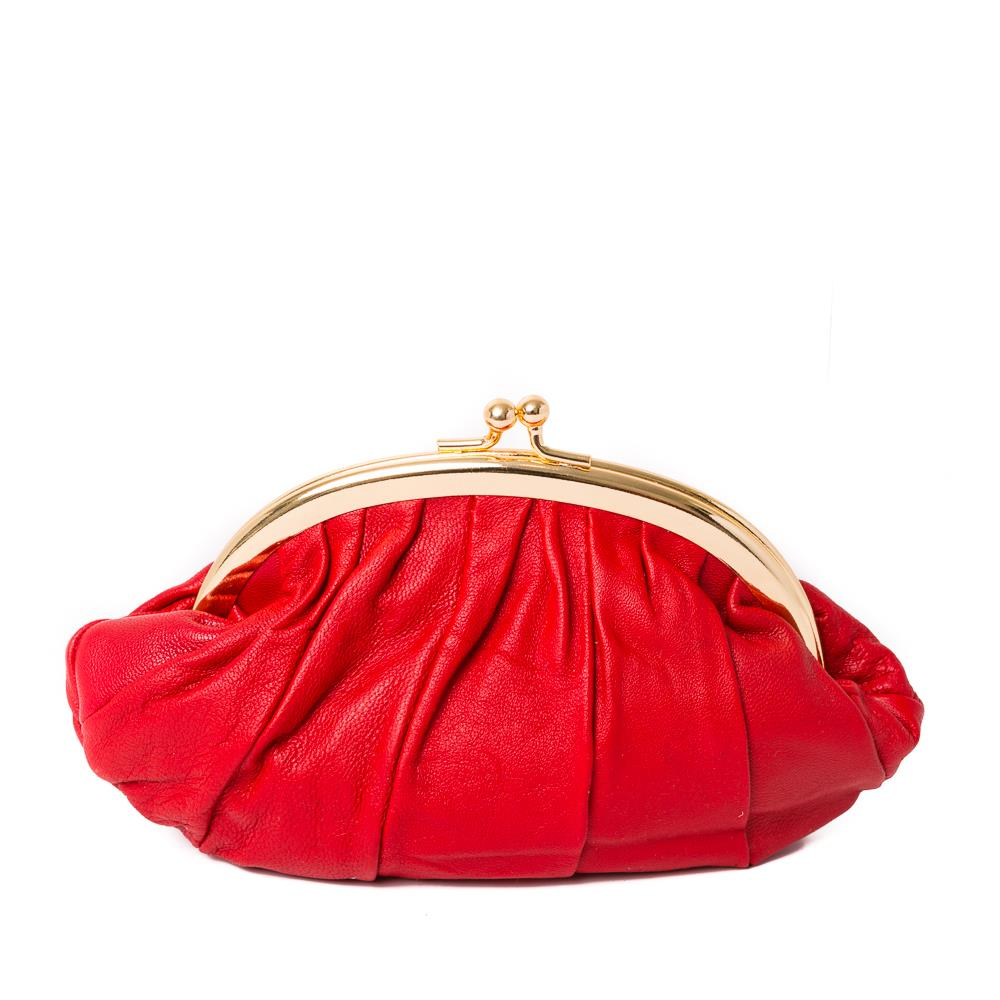 Bag, leather purse red