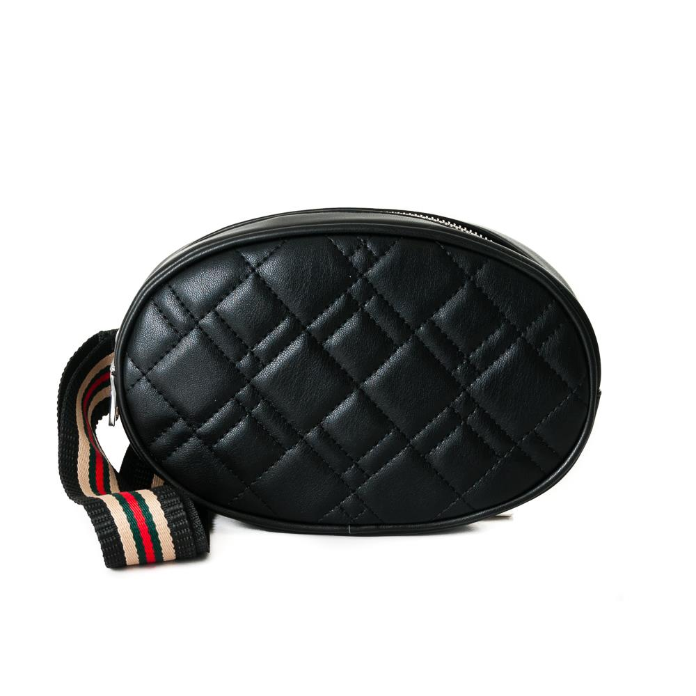 Bag, waffle stitches belt black