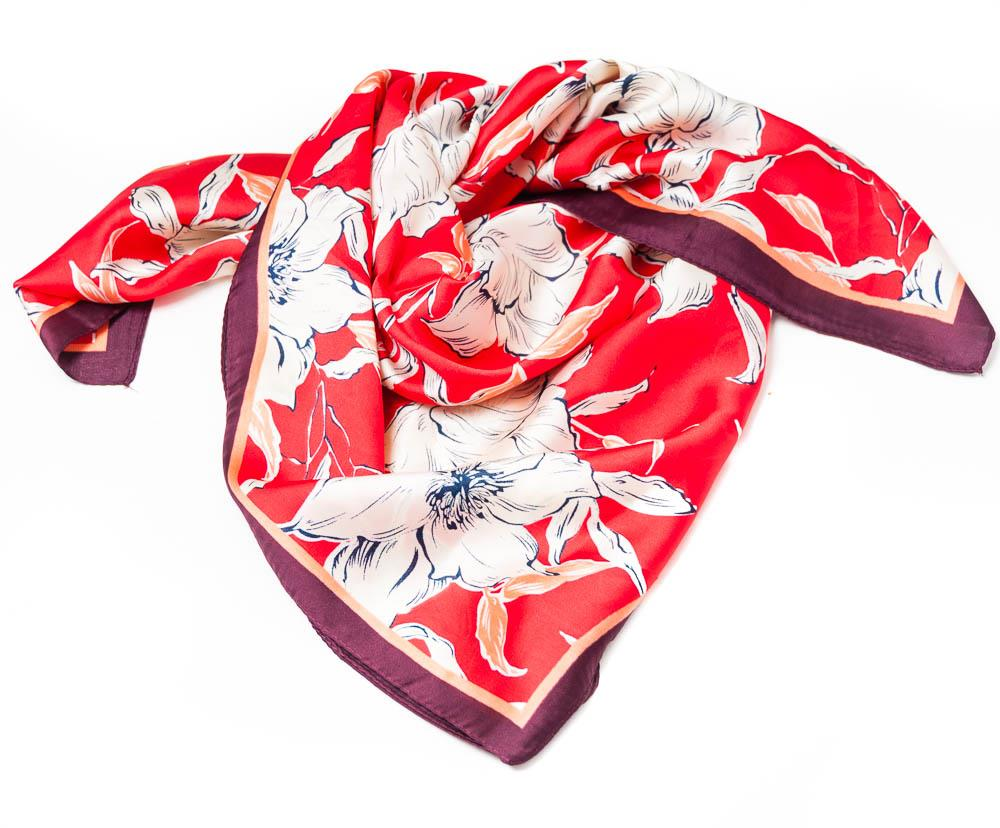 Scarf, small flower print red
