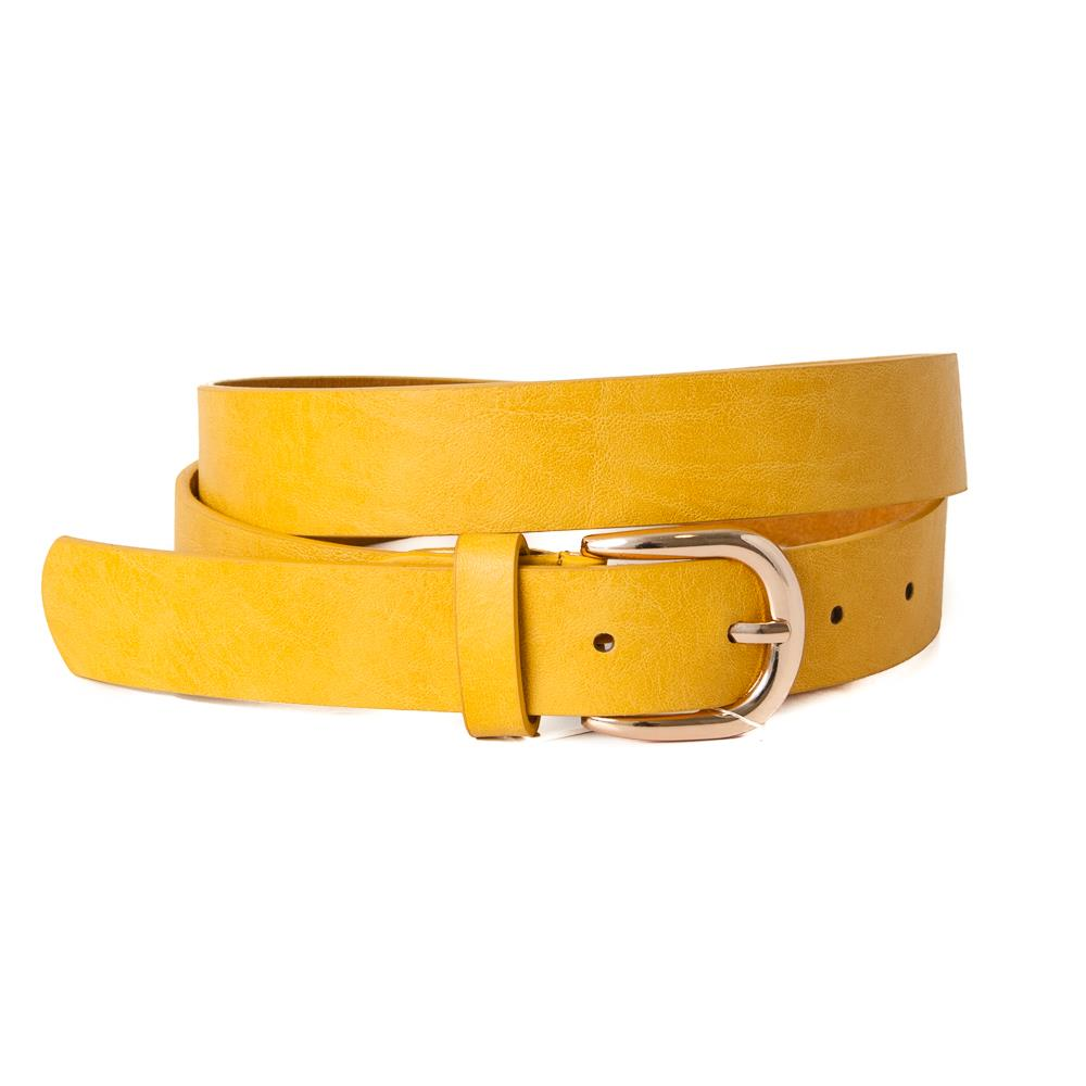 Belt, Plain with gold buckle Yellow