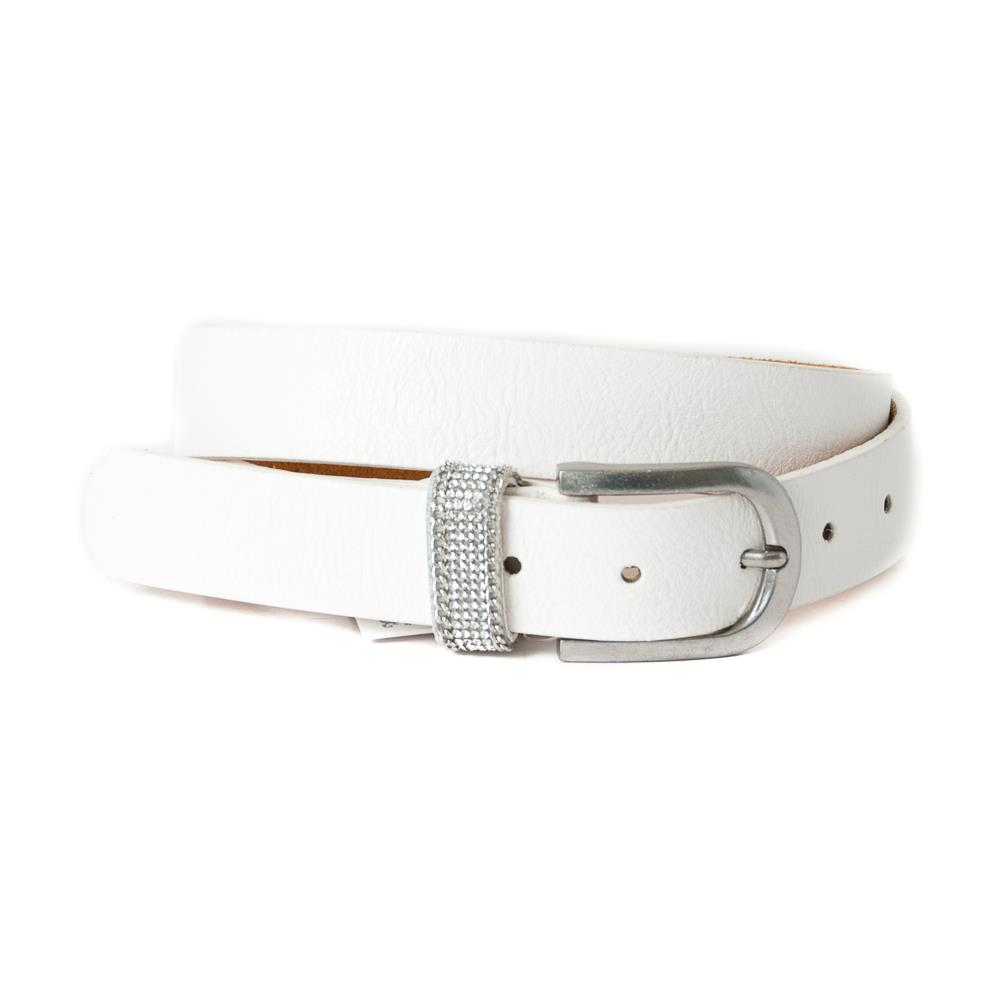 Belt,Small belt Strass stone loop White