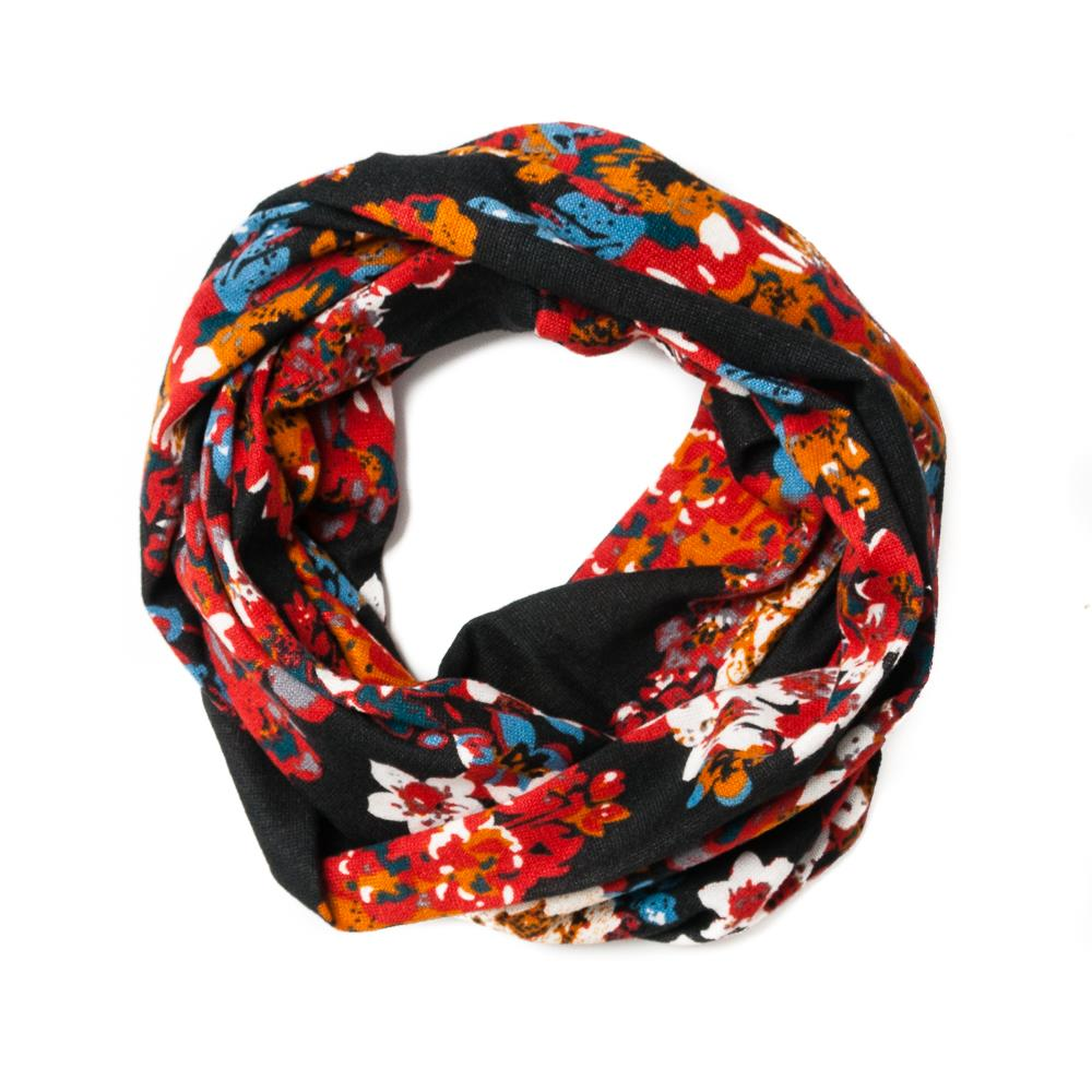 Scarf, jersey tube black