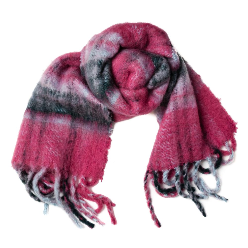 Scarf, Fluffy wool mix pink