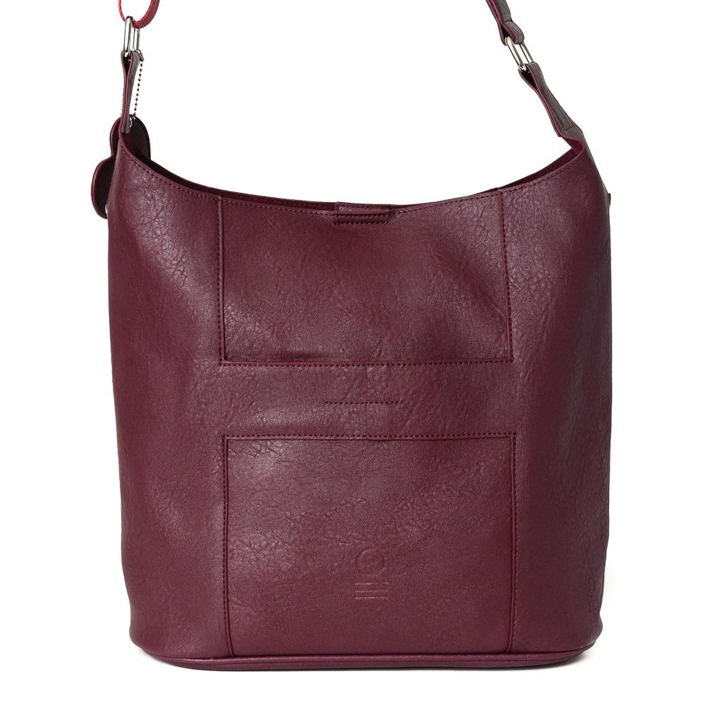 Bag, soft cross bordeaux