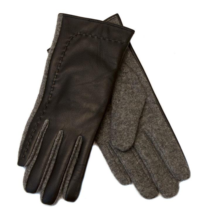 Gloves, leather and wool gloves