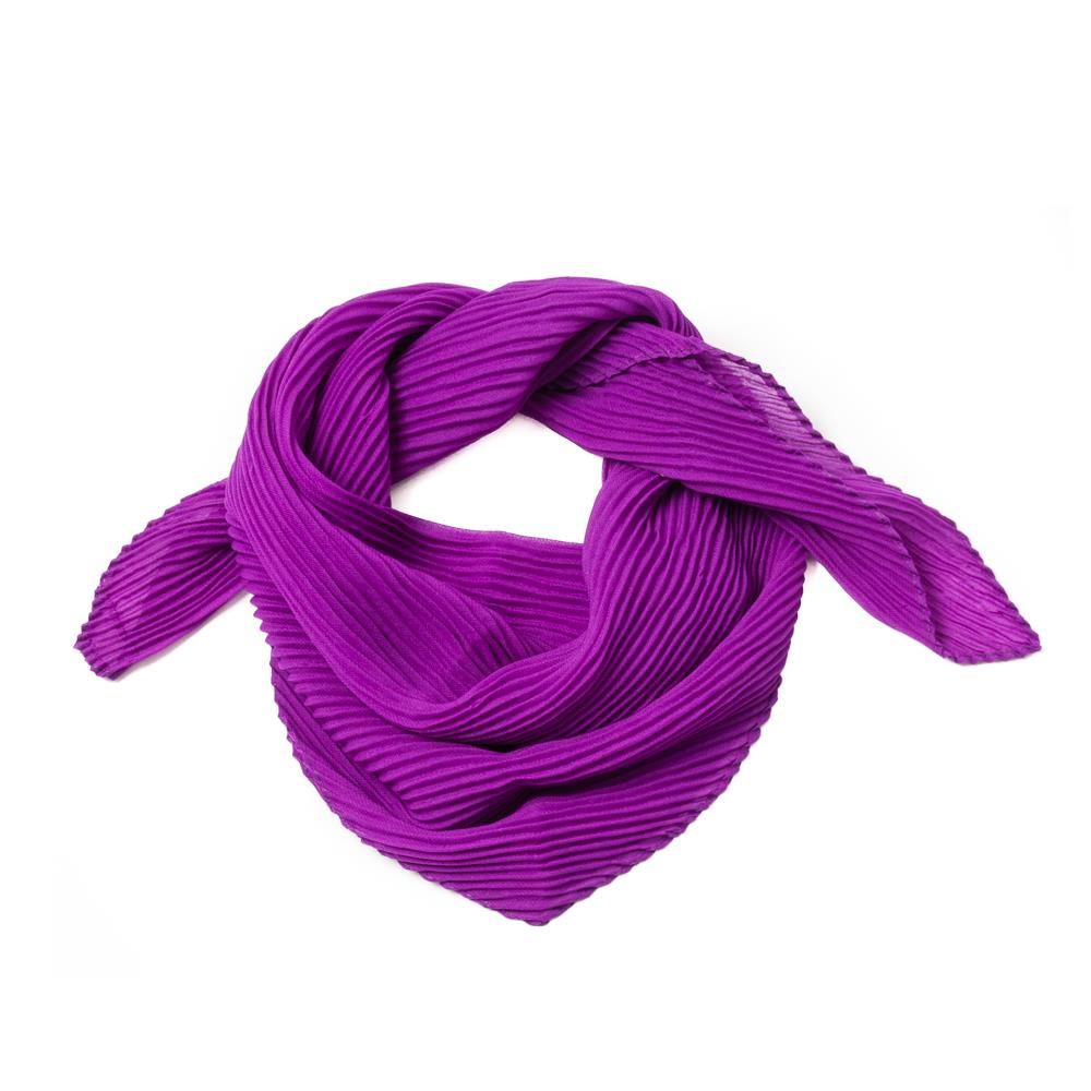 Scarf, small plizze purple