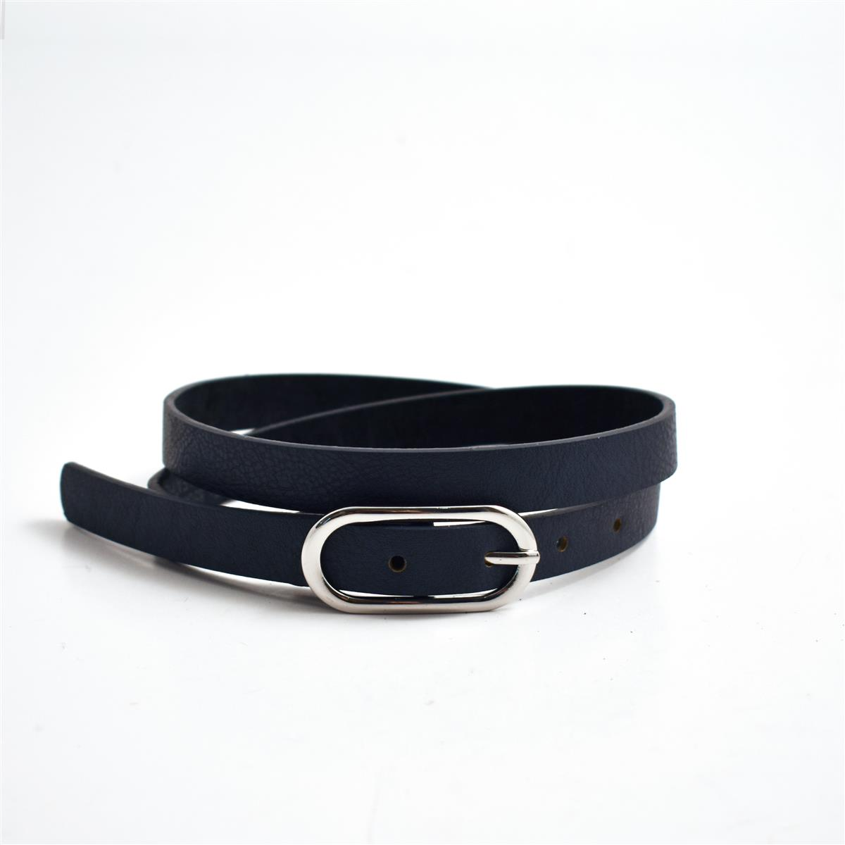 Belt, Oval buckle, Navy