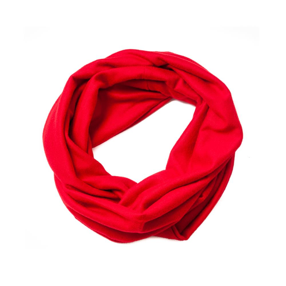 Scarf, knitted tube red