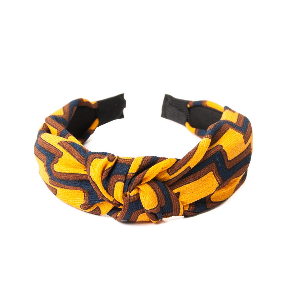 Headband, grafical print yellow