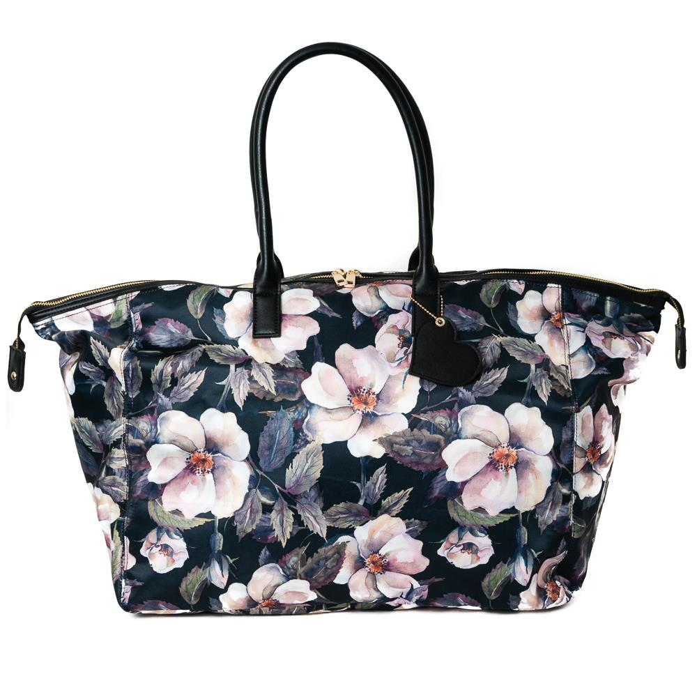 Bag, weekend print flower