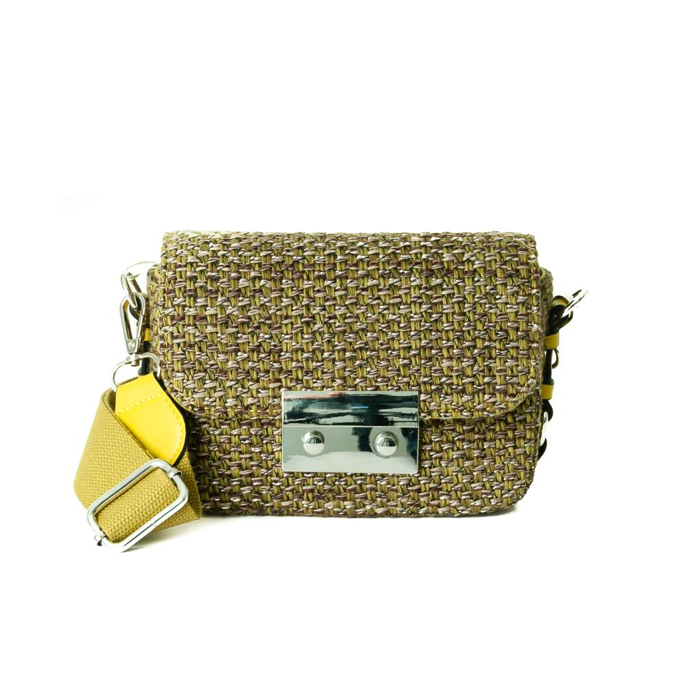 Bag, tweed clutch olive