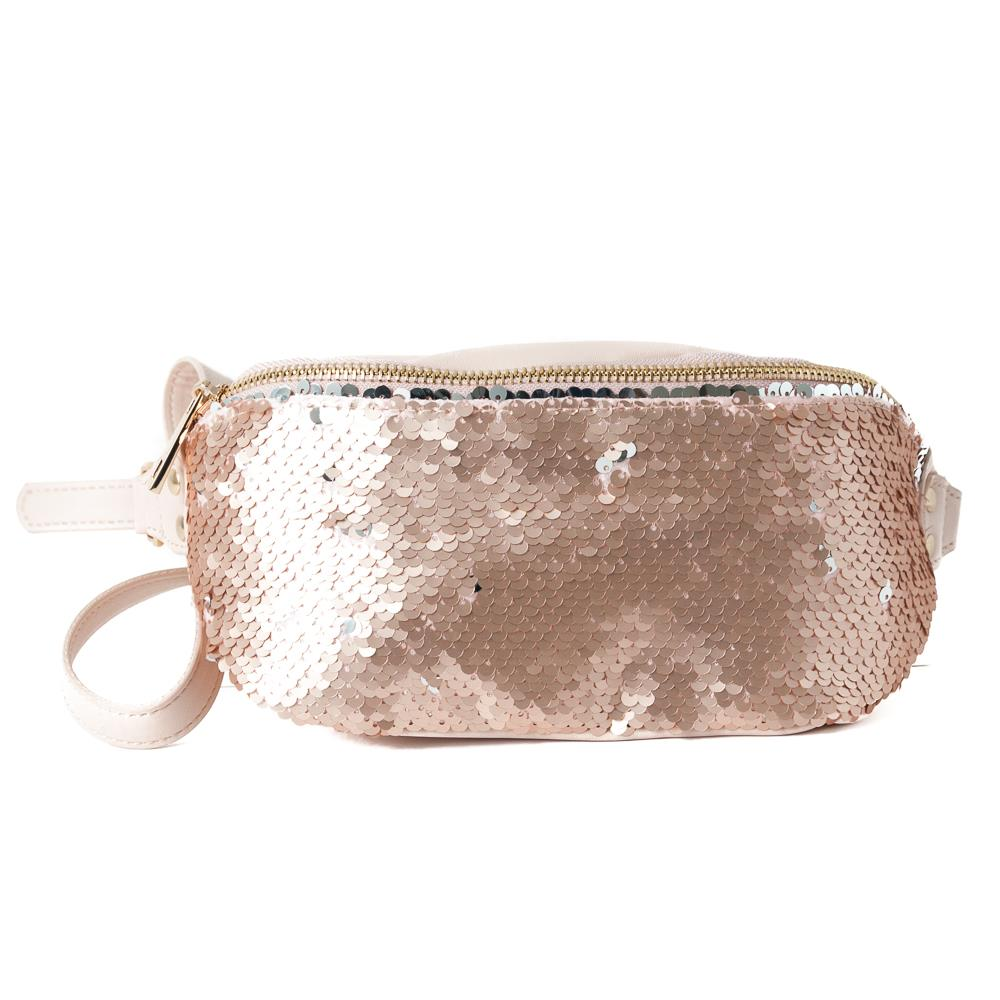 Bag, Bumbag big sequinces dusty pink