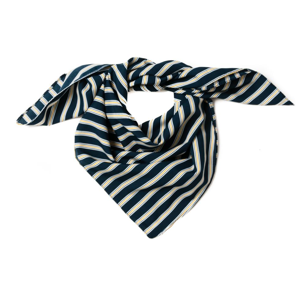 Scarf , small with stripes navy