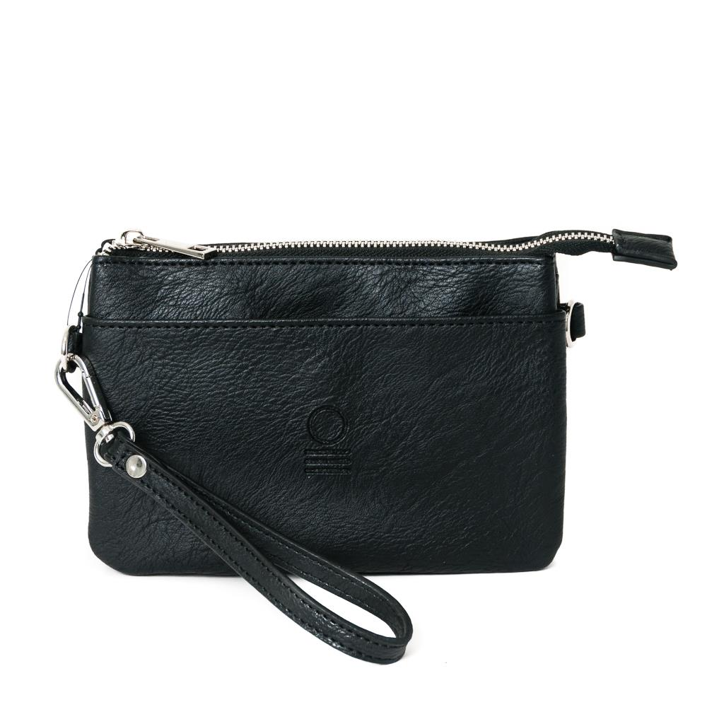 Bag, zipper pocket purse black