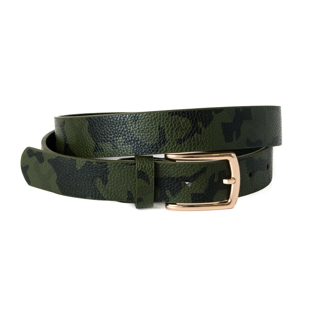 Belt,Small belt Camo pattern Army green