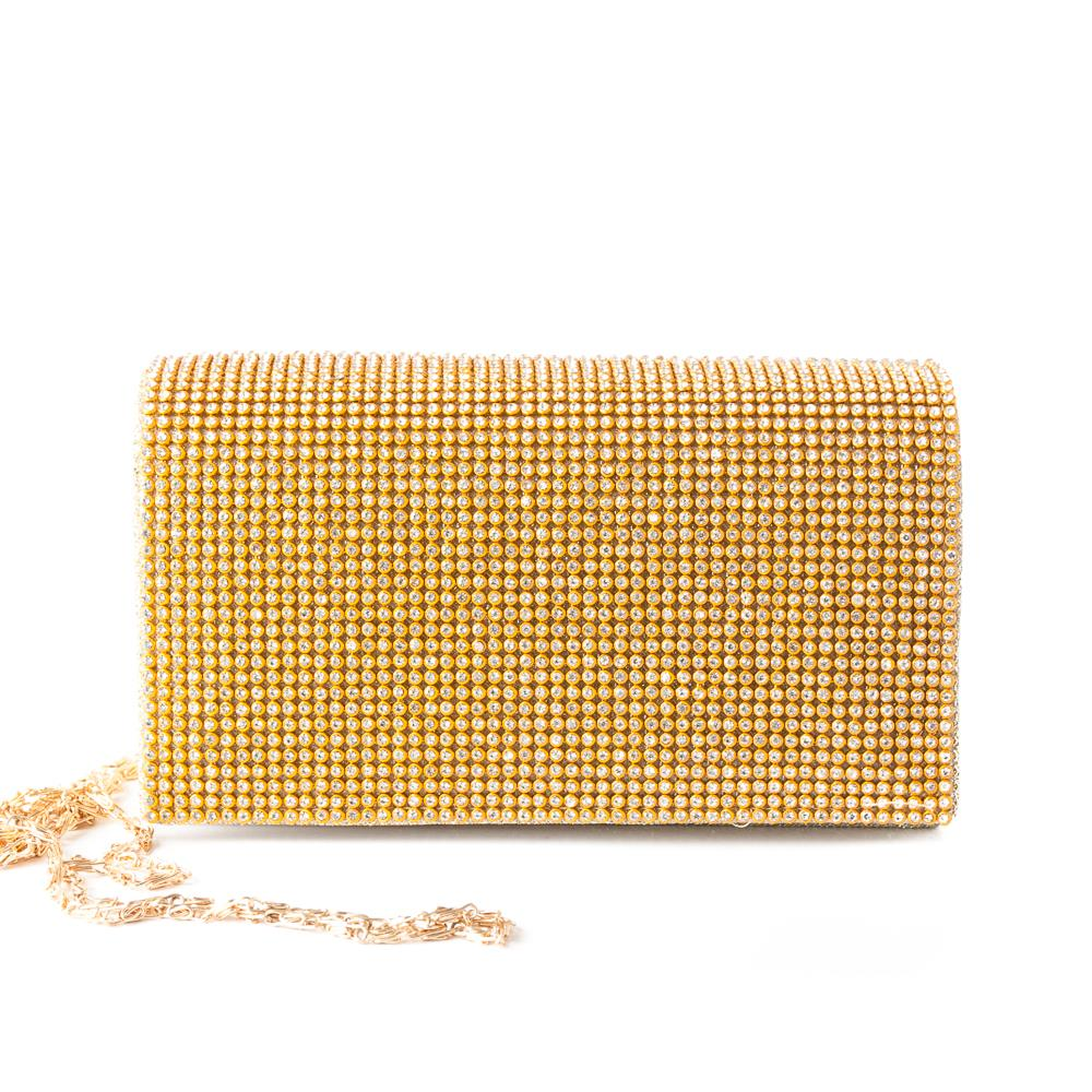 Bag crystalclutch gold