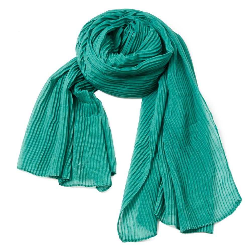 Scarf, exclusive plizze bright green