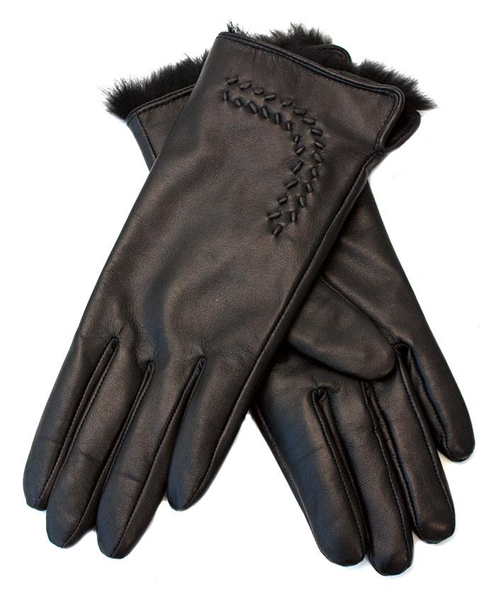Gloves, Leather gloves w embroidery