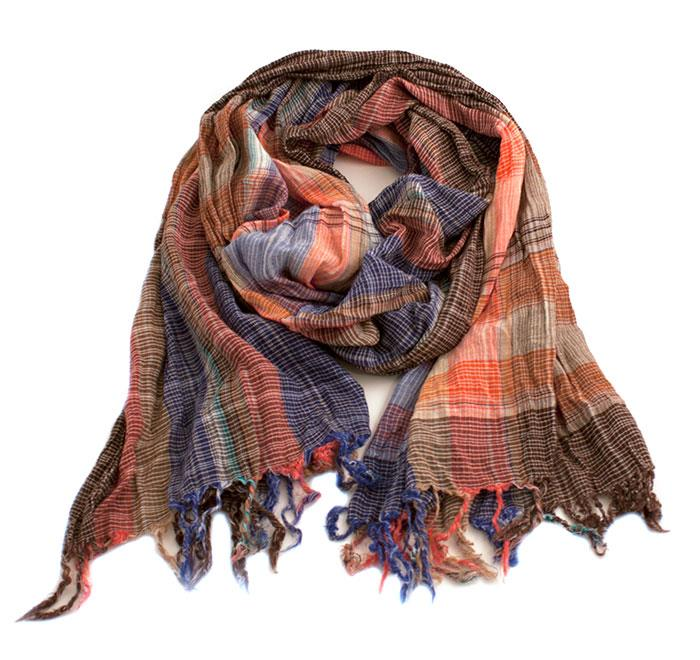Scarf, multicolored square scarf