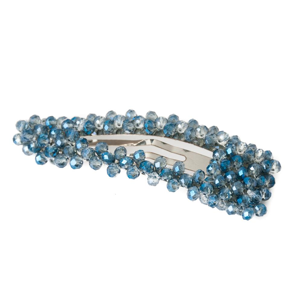 Hairclips, regular crystal blue