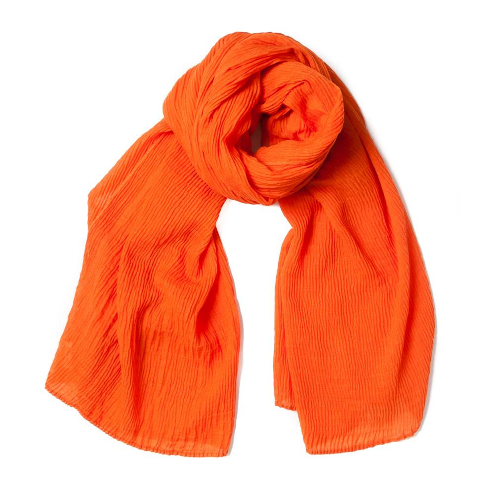 Scarf, viscose mix orange