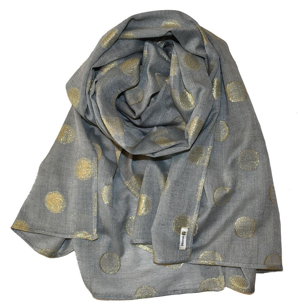 Scarf, jaquard with dots