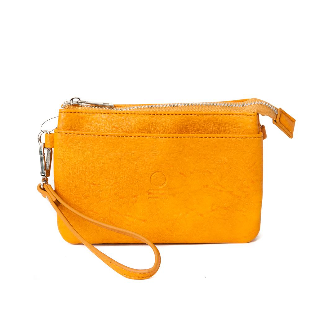 Bag, zipper pocket purse yellow