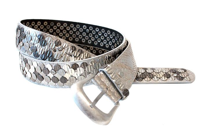 Belt, Leather and PU jeans belt w rivets