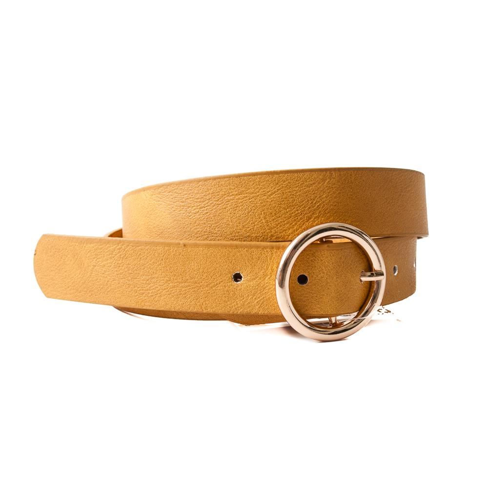 Belt, with sirkle buckle mustard