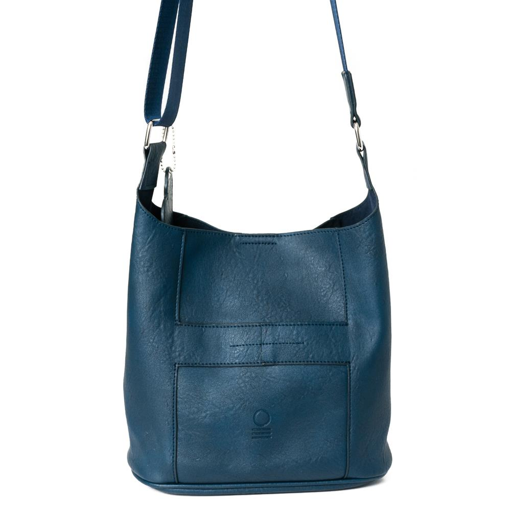 Bag, small soft cross navy
