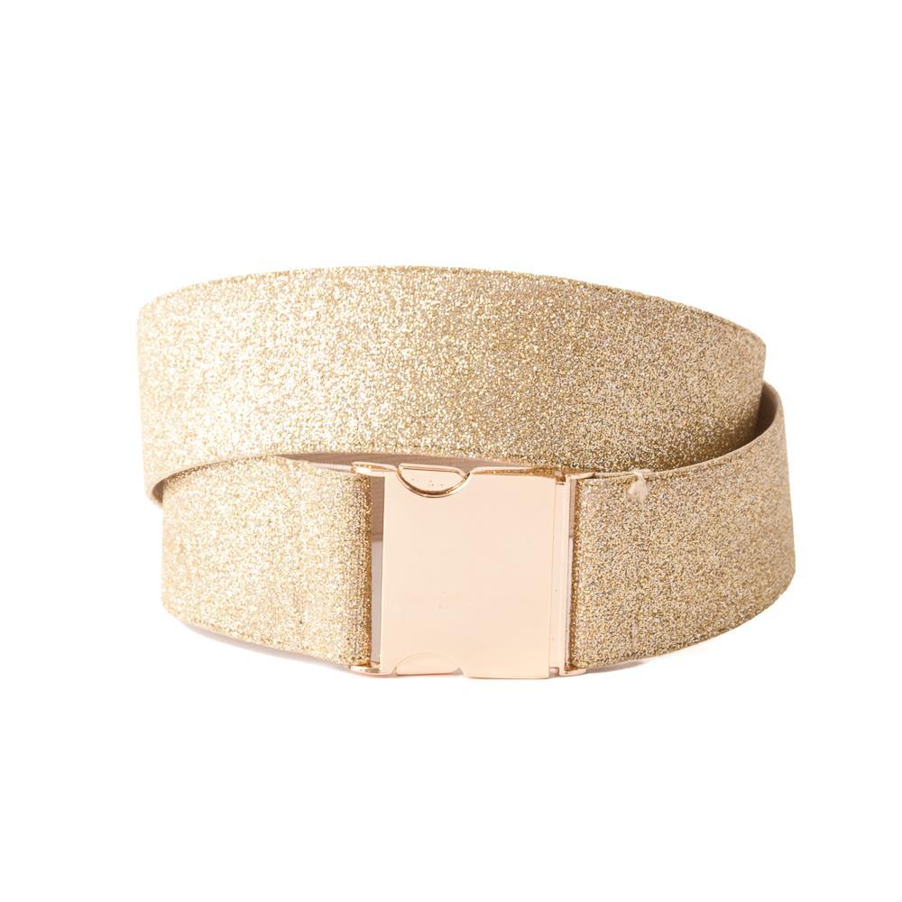 Belt, Elastic ribbon with lurex gold