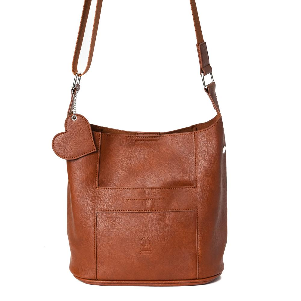 Bag, small soft cross brown