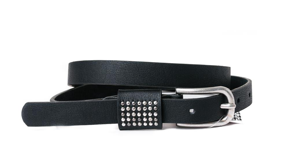 Belt, PU/Leather small rivets on loop black