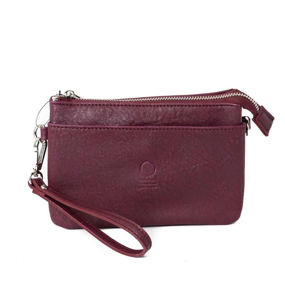 Bag, zipper pocket purse bordeaux