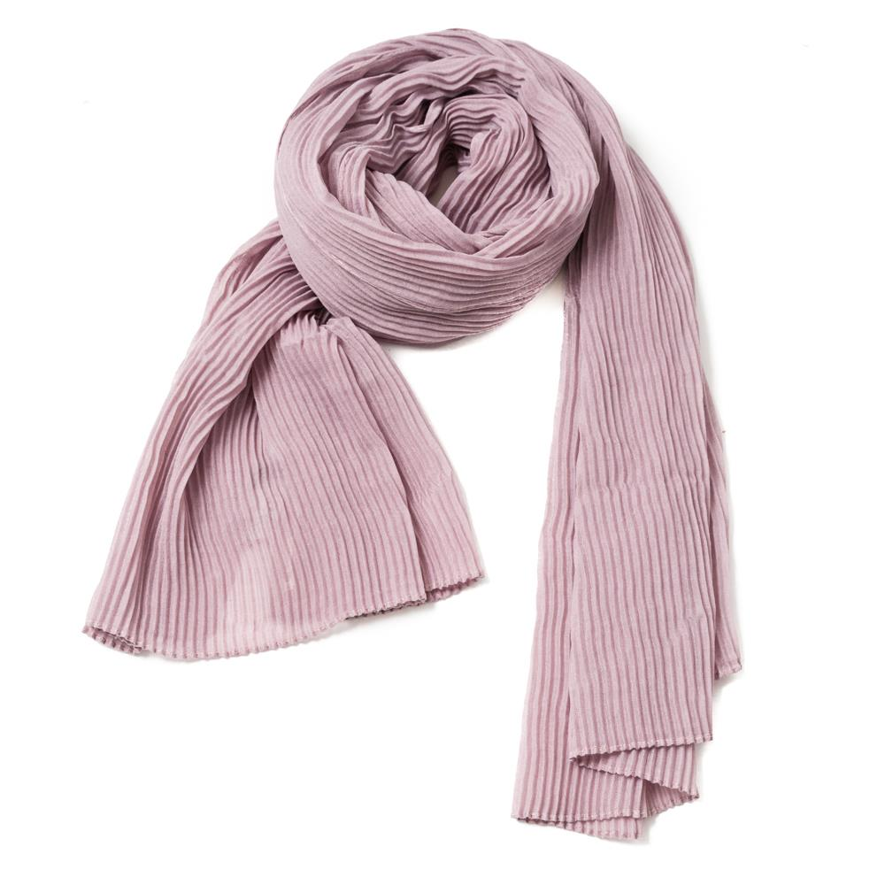Scarf, exclusive plizze dusty lavender