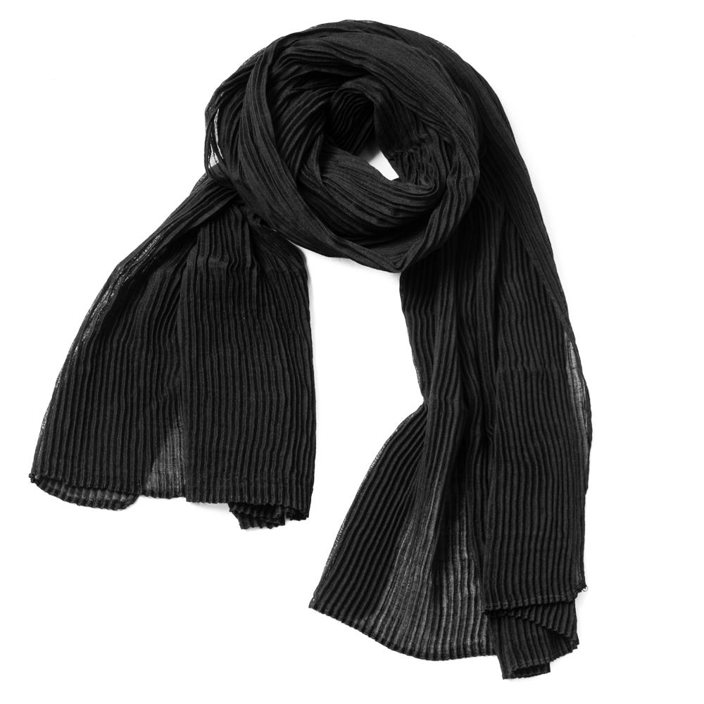 Scarf, exclusive plizze black