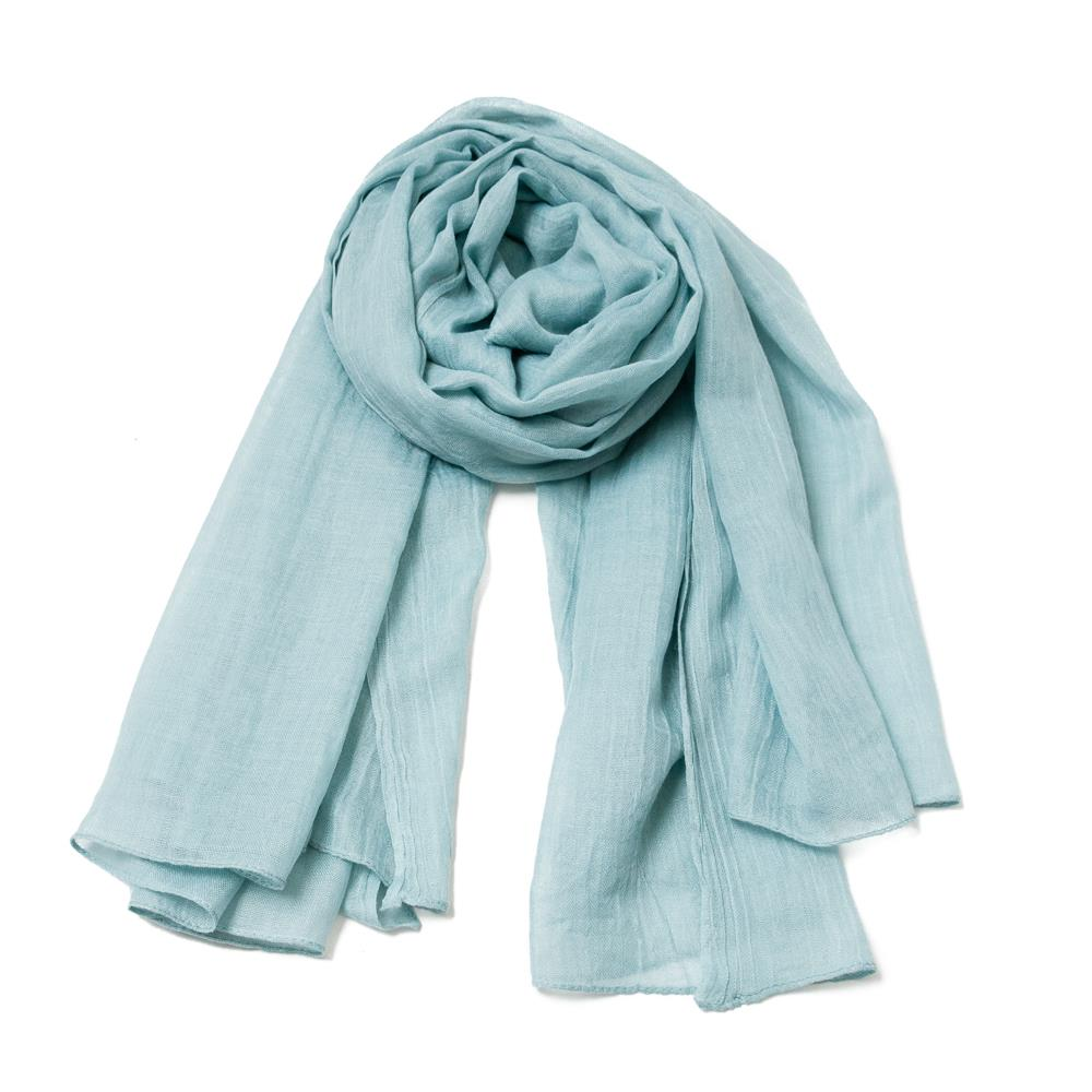 Scarf, Modal scarf solid color Pale green