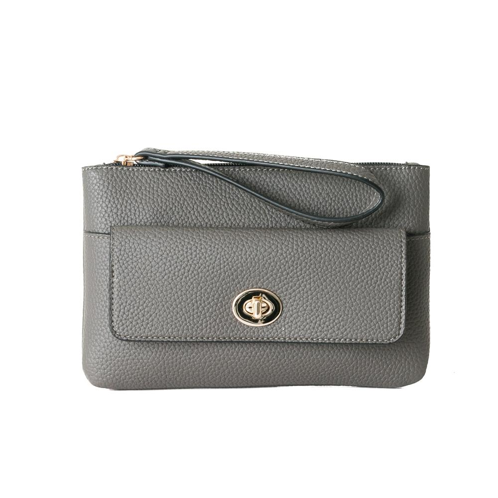 Bag, purse school grey
