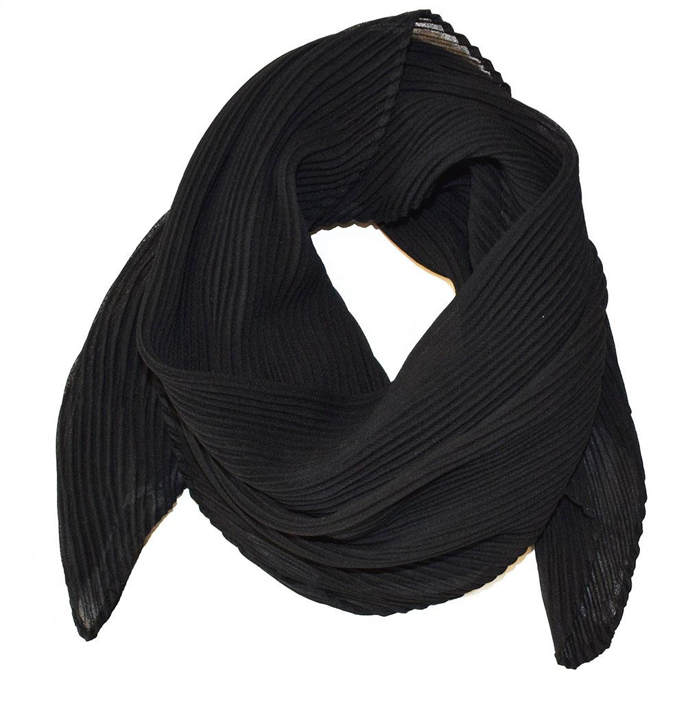Scarf, small plizze black