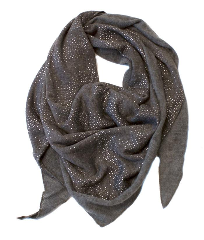 Scarf triangular w bling