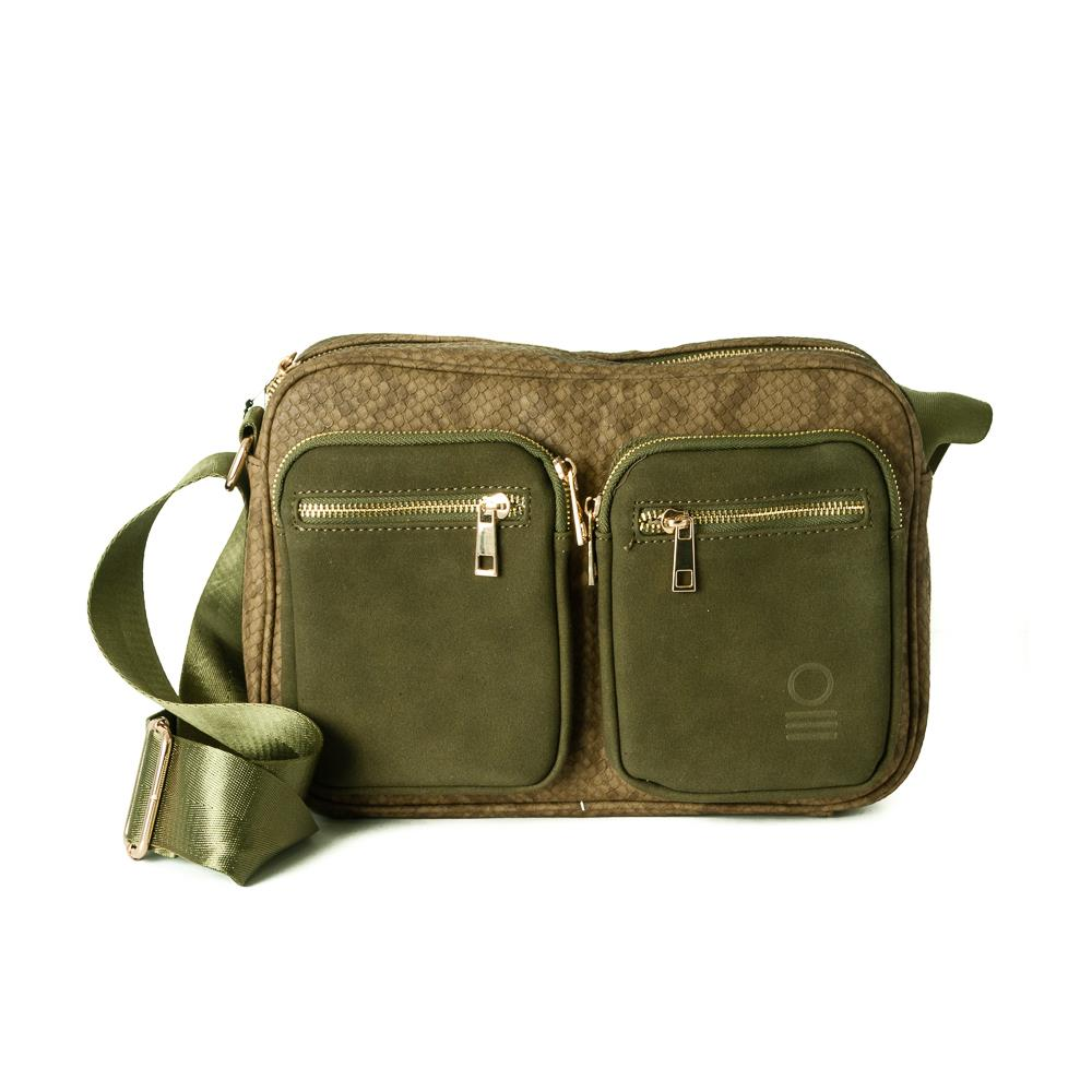 Bag, snake zipper cross army green