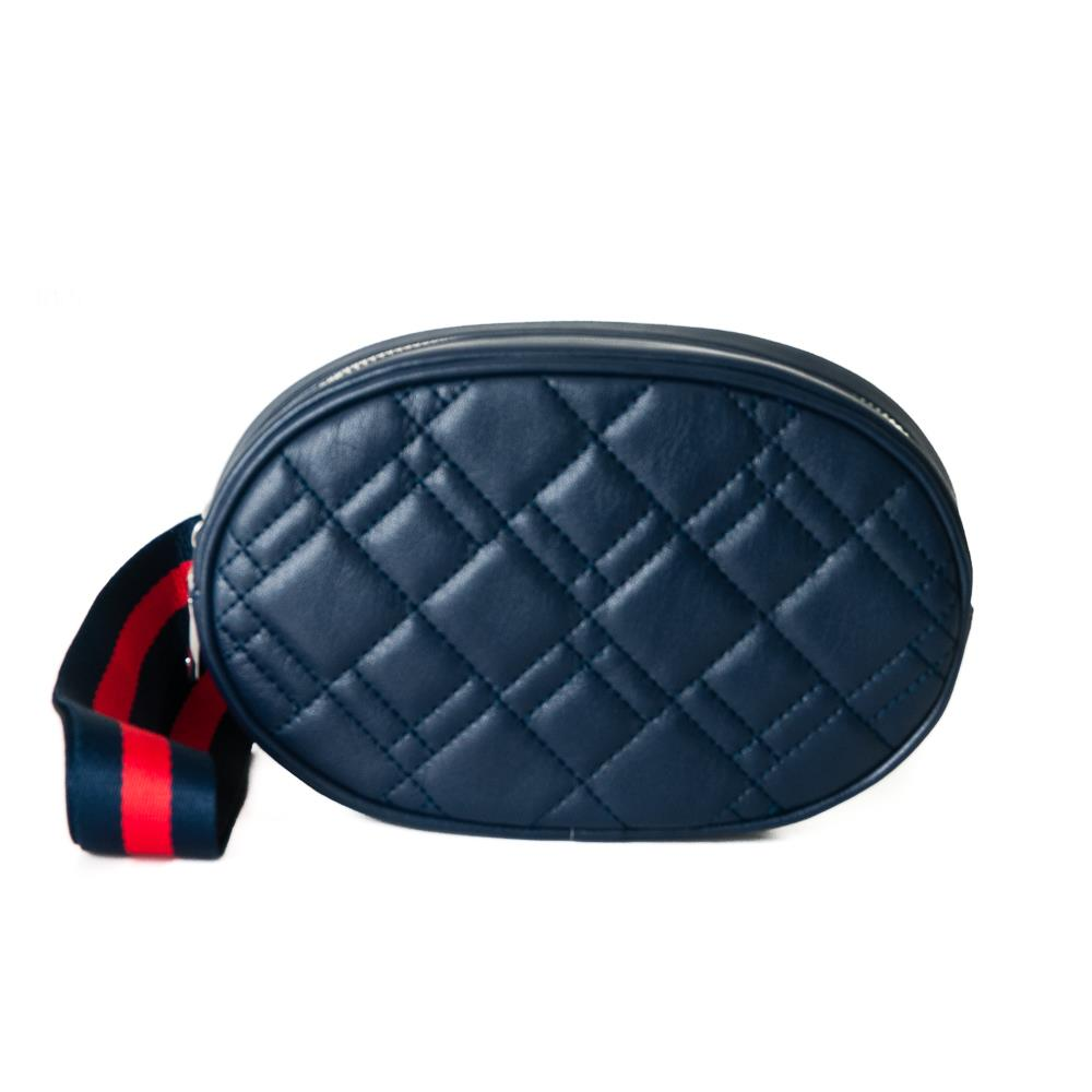 Bag, waffle stitches belt navy
