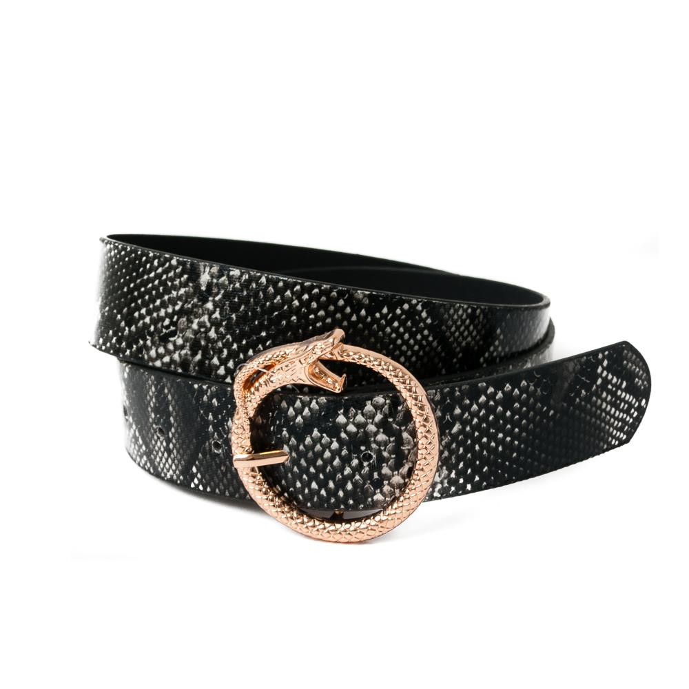Belt, Snake buckle Belt Snake pattern