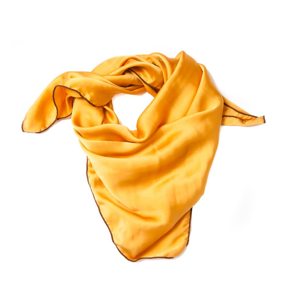Scarf, small solid color yellow