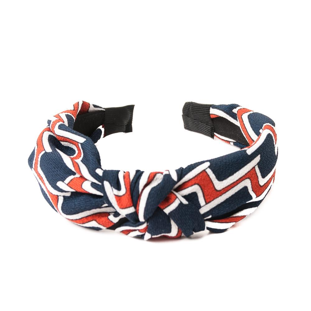 Headband, grafical print navy