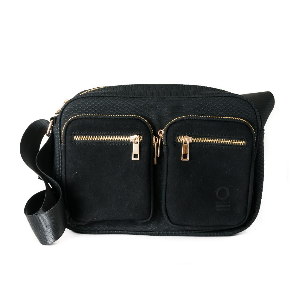 Bag, snake zipper cross black