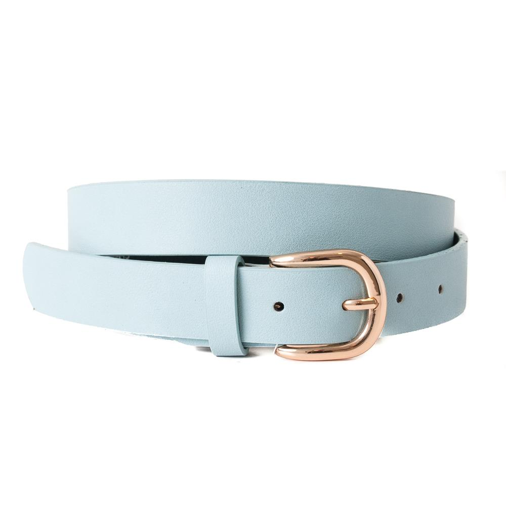 Belt, Plain with gold buckle lt blue
