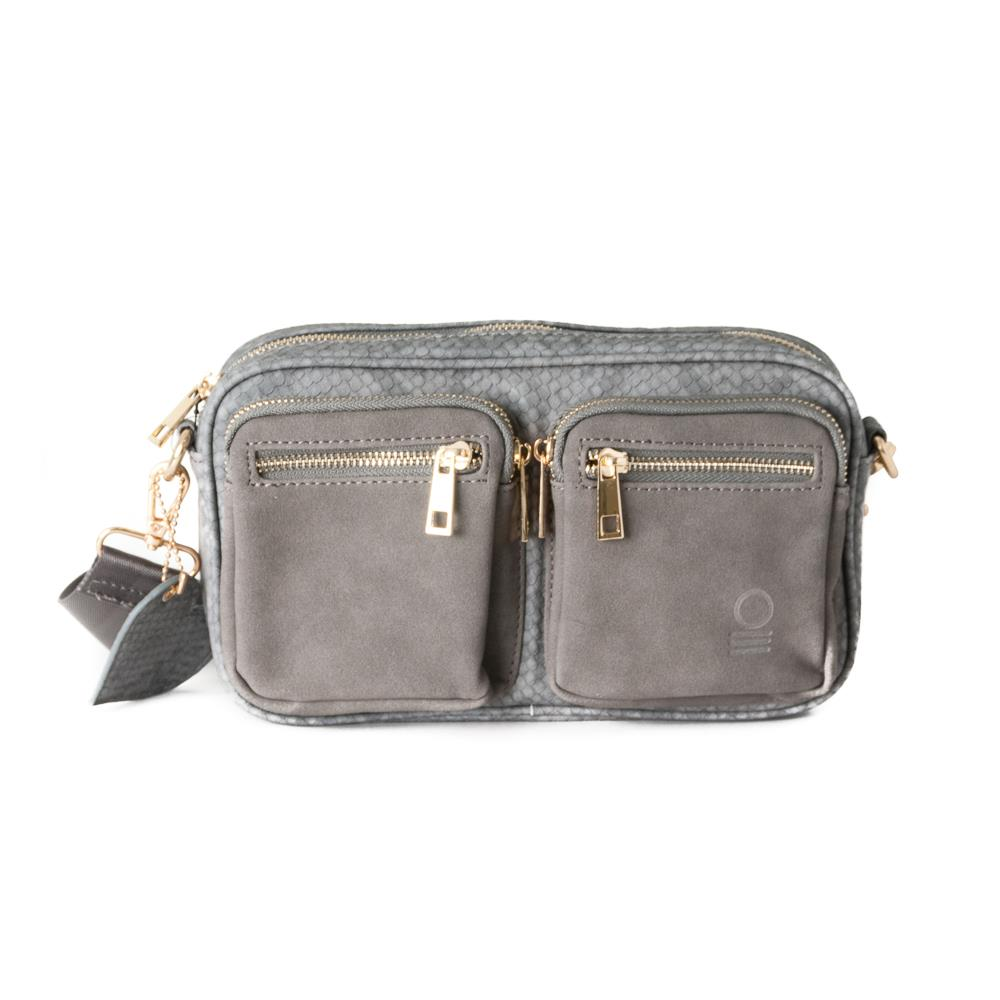 Bag, small snake zipper cross grey
