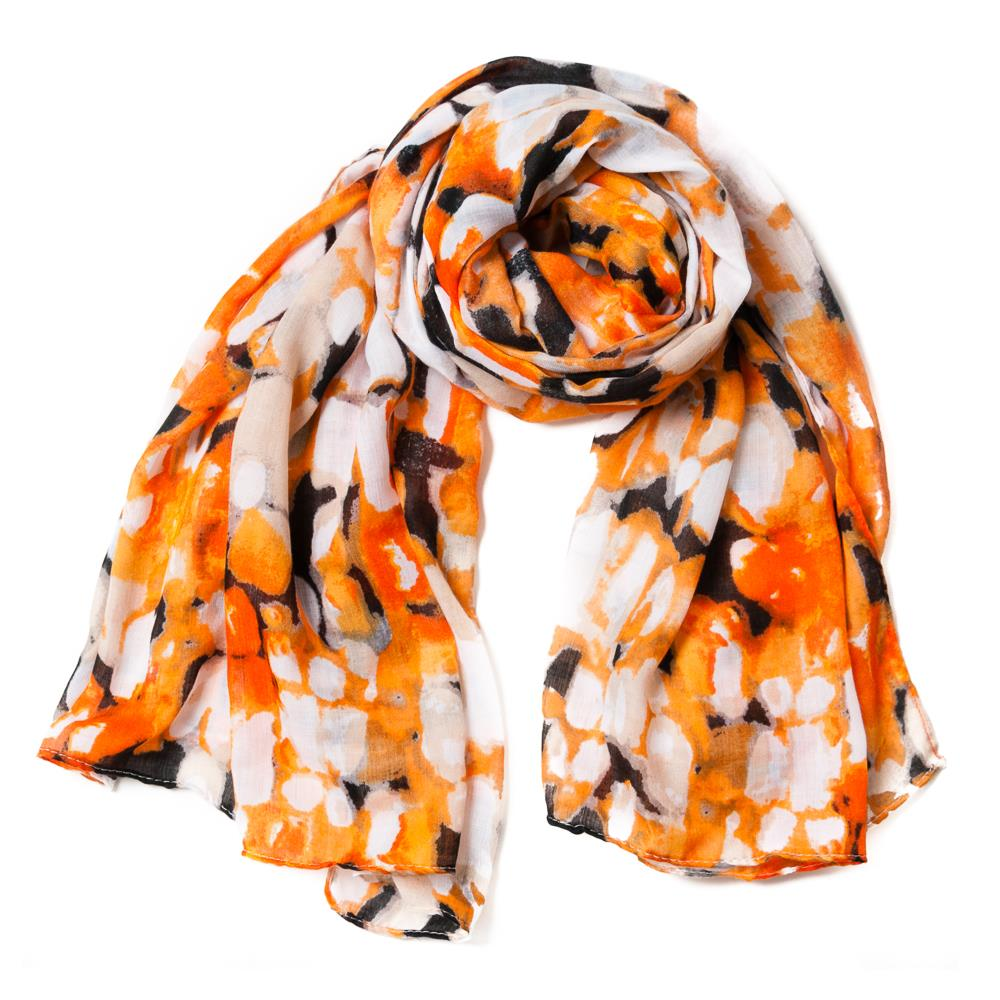 Scarf, multiprint orange