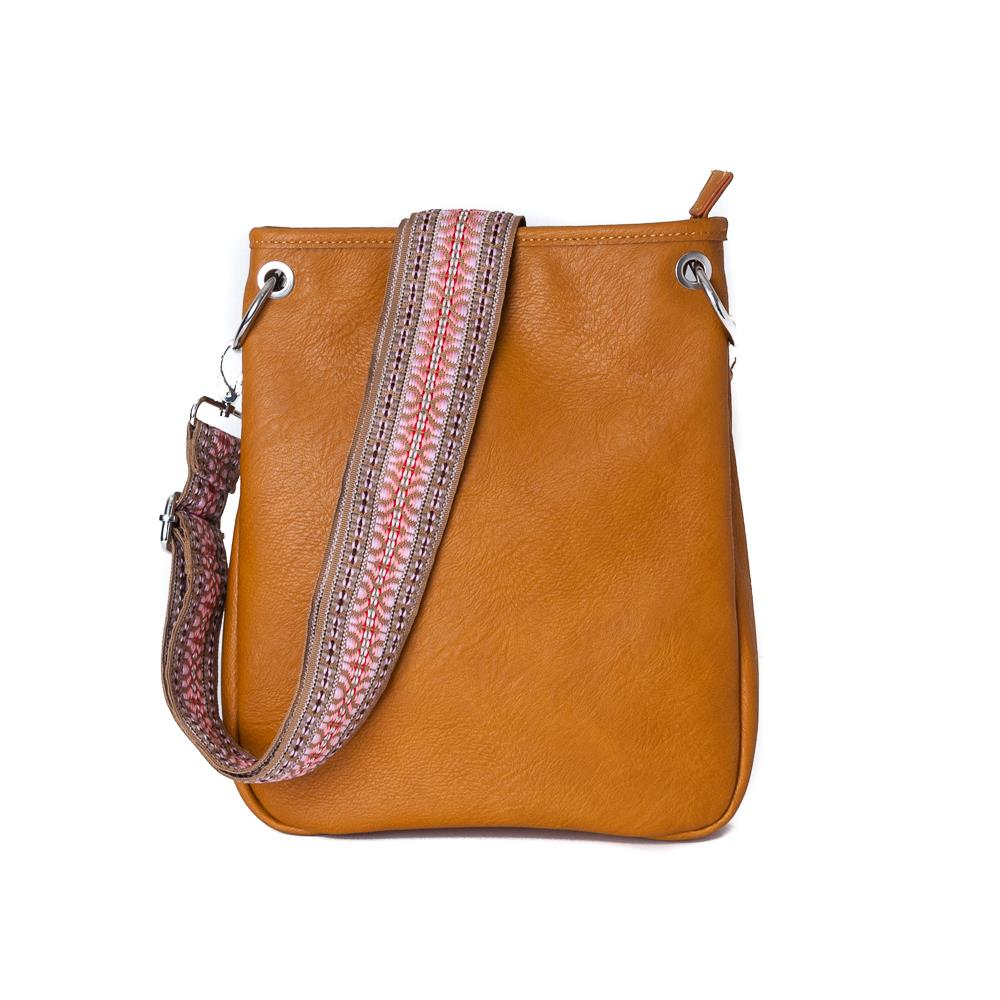 Bag, Darma small crossbag with ribbon cognac
